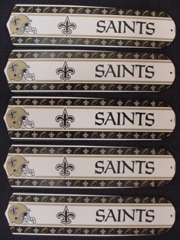 "NFL New Orleans Saints Football 52"" Ceiling Fan Blades Only 1"