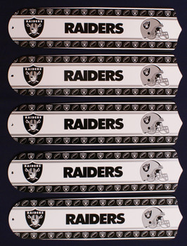"NFL Las Vegas Raiders Football 52"" Ceiling Fan Blades Only 1"