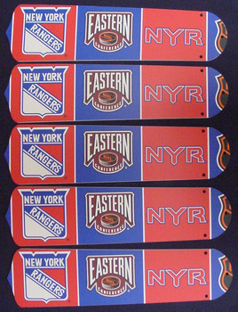 "NHL New York Rangers 52"" Ceiling Fan Blades Only 1"