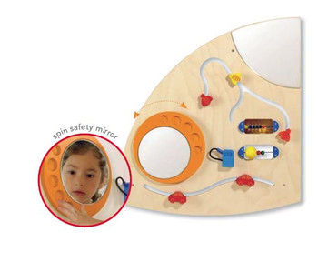 Haba Learning Wall Quarter Circle Wall Toy - Left Close Up