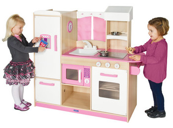 Guidecraft Play Along Pink Kitchen 1