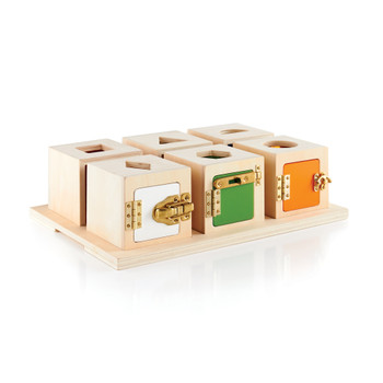 Guidecraft Peekaboo Lock Boxes: Set of 6
