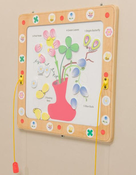 Flowers and Bees Magnetic Wall Toy
