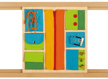 HABA Sensory Wall - Closures Panel - rails optional