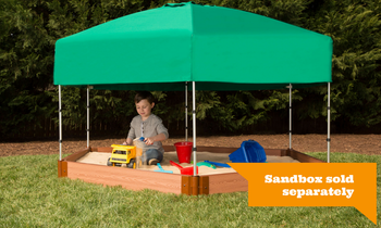 Hexagon Telescoping Hexagon Sandbox Canopy & Cover 1