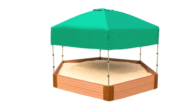 Hexagon Telescoping Hexagon Sandbox Canopy & Cover 2