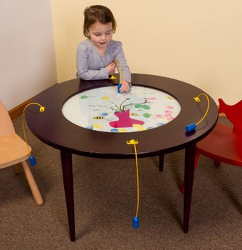 Bees & Flowers Round Activity Table