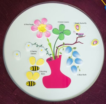 Bees & Flowers Round Activity Table Top