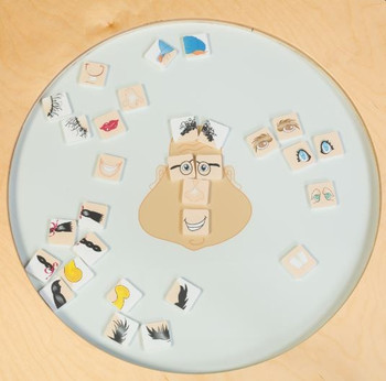 Funny Face Round Activity Table