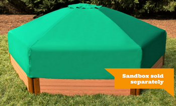 Collapsible Sandbox Cover Hexagon 7ft x 8ft