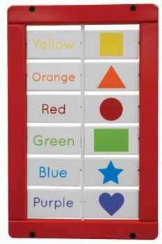 Colors and Shapes Matching Blocks Wall Activity
