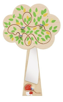 Tree Mirror Interactive Wooden Play Wall Decoration