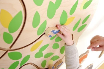 Tree Mirror Interactive Wooden Play Wall Decoration 1