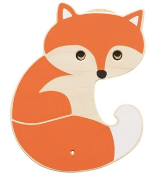 Fox Interactive Wooden Play Wall Decoration