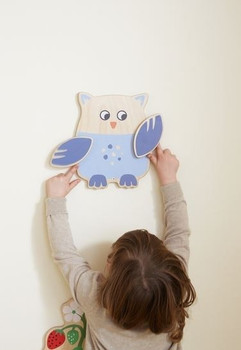Owl Interactive Wooden Play Wall Toy 1