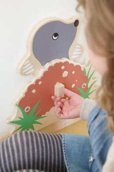 Mole Interactive Wooden Play Wall Decoration