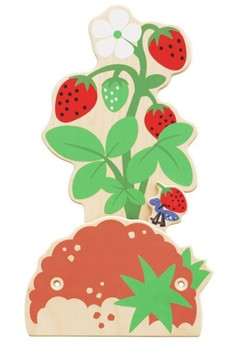 Strawberry Bush Interactive Wooden Play Wall Decoration