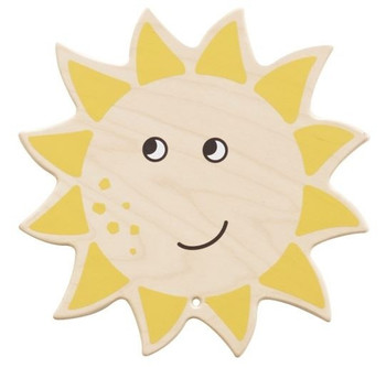 Smiling Sun Wooden Play Wall Decoration