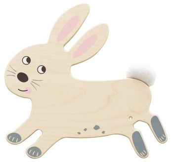 Rabbit Sensory Wooden Play Wall Decoration