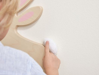 Rabbit Sensory Wooden Play Wall Decoration Fuzzy Tale
