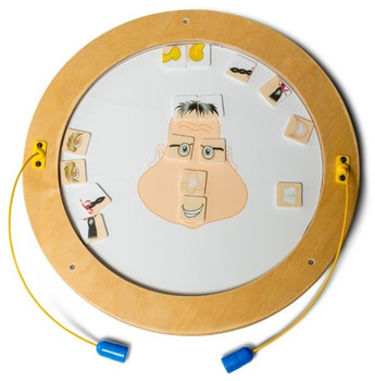 Round Funny Face Magnetic Wall Activities