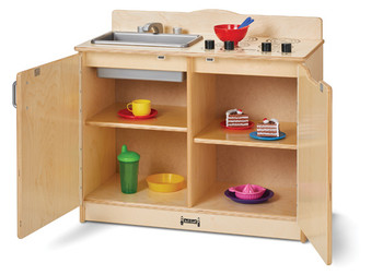 2-in-1 Play Kitchen Open
