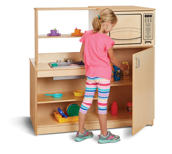 Mobile Pretend Kitchen Island