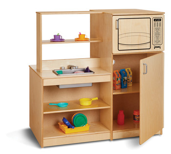 Mobile Pretend Kitchen Island 1