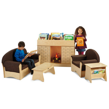 Komfy Living Room 4 pc Set w/Optional Storybook Fireplace