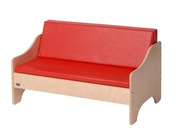 Angeles Kid's Sofa- Red