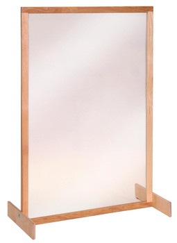 Clear Panel Room Divider 1