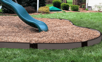 Weathered Wood Curved Playground Border