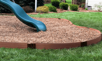"Classic Sienna Curved Playground Border 16' – 1"" Profile"