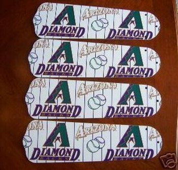 "Arizona Diamondbacks Baseball Ceiling Fan 42"" Blades"