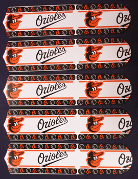 "Baltimore Orioles Baseball 52"" Ceiling Fan Blades"