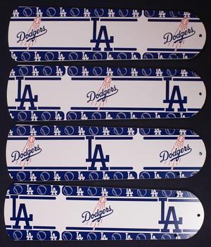 """LA Dodgers Baseball Ceiling Fan 42"""" Blades"""