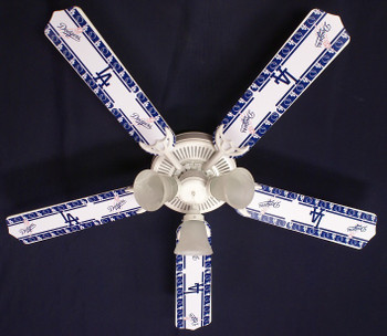LA Dodgers Baseball Ceiling Fan 52""