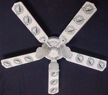 Florida Marlins Baseball Ceiling Fan 52""