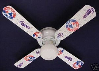 "Montreal Expos Baseball Ceiling Fan 42"""