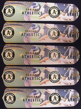 "Oakland Athletics Baseball 52"" Ceiling Fan Blades"