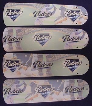 "San Diego Padres Baseball Ceiling Fan 42"" Blades"