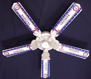 Texas Rangers Baseball Ceiling Fan 52""