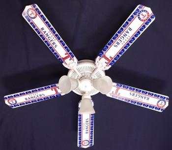 "Texas Rangers Baseball Ceiling Fan 52"""