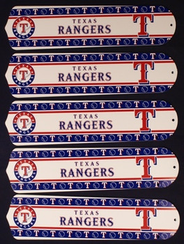 "Texas Rangers Baseball 52"" Ceiling Fan Blades"