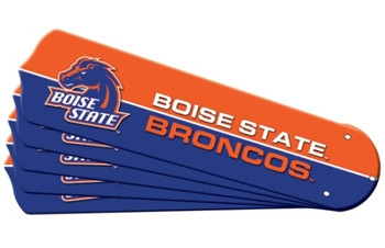 "NCAA Boise State Broncos Ceiling Fan Blades For 42"" Fans"