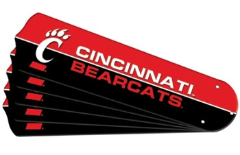 "NCAA Cincinnati Bearcats Ceiling Fan Blades For 42"" Fans"