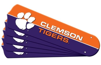 "NCAA Clemson Tigers Ceiling Fan Blades For 42"" Fans"