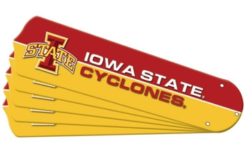 "NCAA Iowa State Cyclones Ceiling Fan Blades For 52"" Fans"