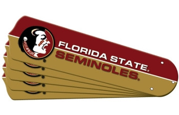 "NCAA Florida State Seminoles Ceiling Fan Blades For 52"" Fans"