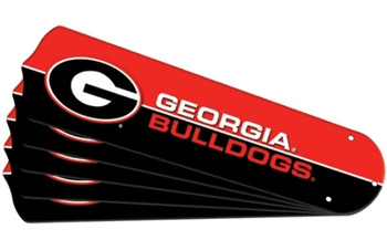 "NCAA Georgia Bulldogs Ceiling Fan Blades For 42"" Fans"